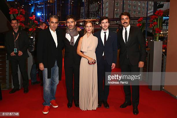 Producer Luis Urbano director Ivo Ferreira actors Margarida VilaNova Miguel Nunes and Ricardo Pereira attend the 'Letters from War' premiere during...