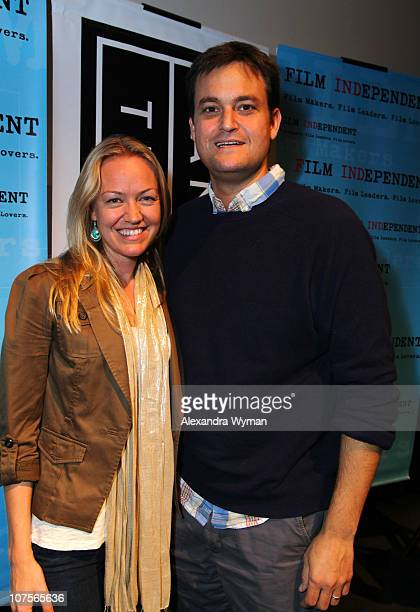 Producer Lynette Howell and Producer Jamie Patricof and at Film Independent's Screening Series 'Blue Valentine' held at the Landmark Theater on...