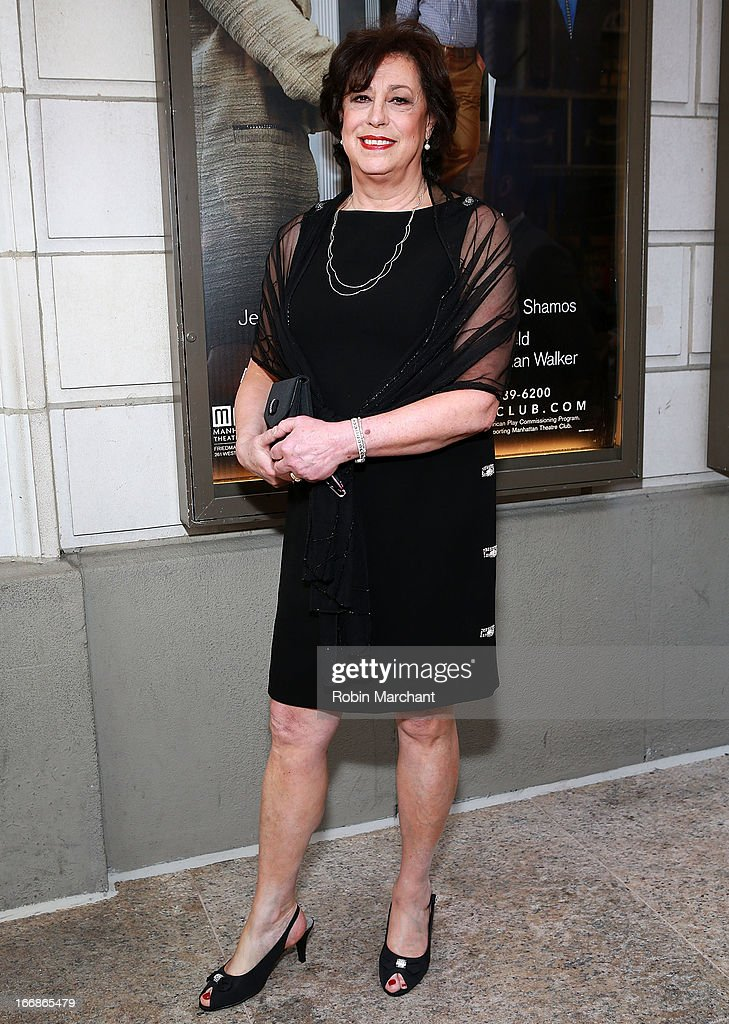 Producer Lynne Meadow attends the 'The Assembled Parties' opening night at Samuel J. Friedman Theatre on April 17, 2013 in New York City.