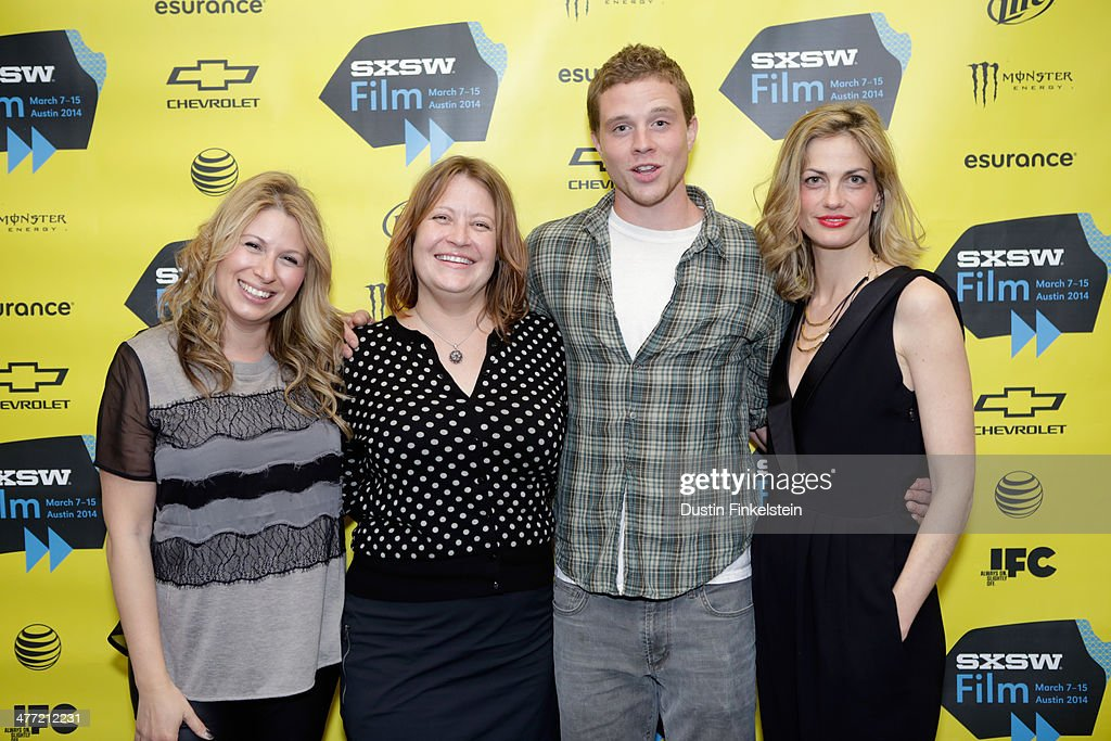 Producer Mandy Tagger, director Jen McGowan, actor Jonny Weston and producer Adi Ezroni attend the 'Kelly & Cal' Photo Op and Q&A during the 2014 SXSW Music, Film + Interactive Festival at Rollins Theatre at The Long Center on March 7, 2014 in Austin, Texas.