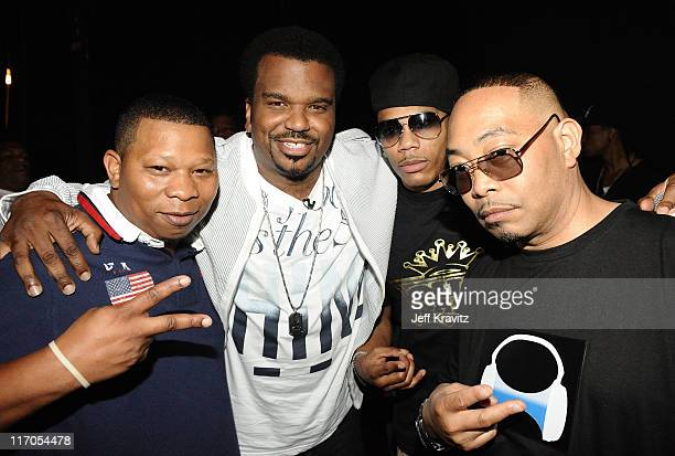 Producer Mannie Fresh Actor Craig Robinson Rapper Nelly and Rapper Fresh Kid Ice of the 2 Live Crew attend the 2010 Vh1 Hip Hop Honors at Hammerstein...