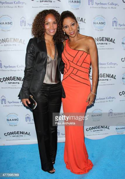 Producer Mara Brock Akil and Actress Holly Robinson Peete attend the National Alumnae Association of Spelman College LA Chapter toasts 20 years of...