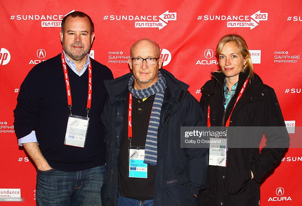 Producer <a gi-track='captionPersonalityLinkClicked' href=/galleries/search?phrase=Marc+Shmuger&family=editorial&specificpeople=691268 ng-click='$event.stopPropagation()'>Marc Shmuger</a>, filmmaker <a gi-track='captionPersonalityLinkClicked' href=/galleries/search?phrase=Alex+Gibney&family=editorial&specificpeople=844225 ng-click='$event.stopPropagation()'>Alex Gibney</a> and producer Alexis Bloom attend the 'We Steal Secrets: The Story Of Wikileaks' premiere at The Marc Theatre during the 2013 Sundance Film Festival on January 21, 2013 in Park City, Utah.