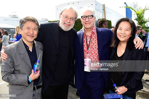 Producer Marcus Hu President of the Writers Guild of America West Howard A Rodman Senior VP Film Marketing for Participant Media Laura Kim and guest...