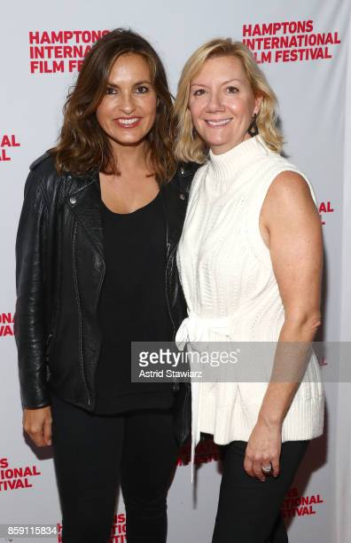 Producer Mariska Hargitay and Executive Director at Hamptons International Film Festival Anne Chaisson attend the red carpet for 'I Am Evidence'...