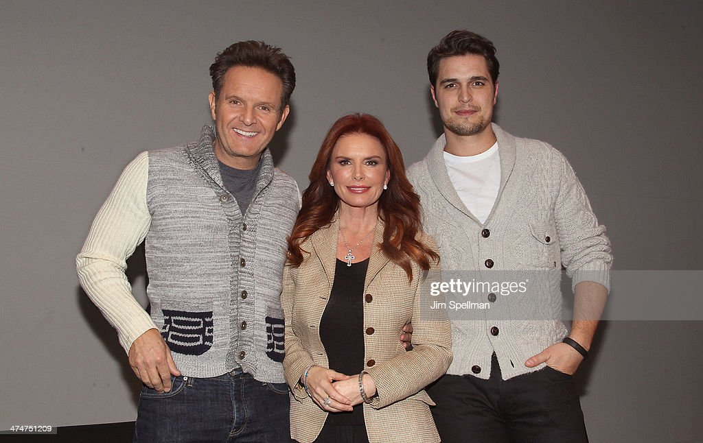 Producer Mark Burnett actress/producer Roma Downey and actor Diogo Morgado attend 'Meet The Filmmakers' at Apple Store Soho on February 24 2014 in...