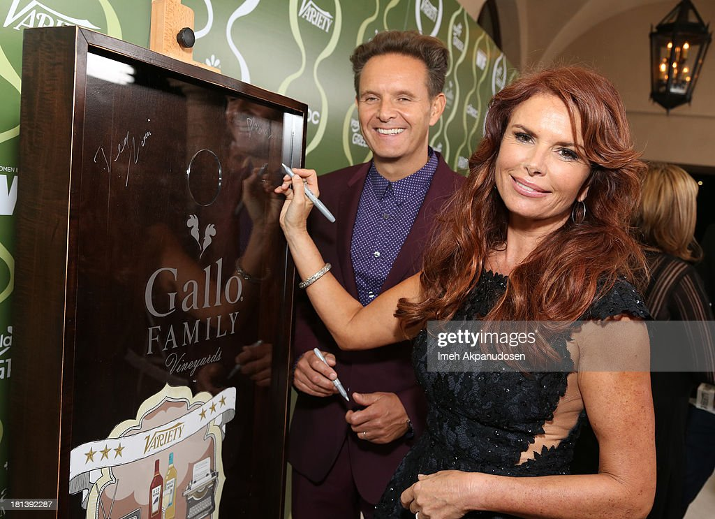 Producer <a gi-track='captionPersonalityLinkClicked' href=/galleries/search?phrase=Mark+Burnett&family=editorial&specificpeople=204697 ng-click='$event.stopPropagation()'>Mark Burnett</a> and actress <a gi-track='captionPersonalityLinkClicked' href=/galleries/search?phrase=Roma+Downey&family=editorial&specificpeople=214162 ng-click='$event.stopPropagation()'>Roma Downey</a> attend Variety & Women In Film Pre-Emmy Event presented by Yoplait Greek at Scarpetta on September 20, 2013 in Beverly Hills, California.