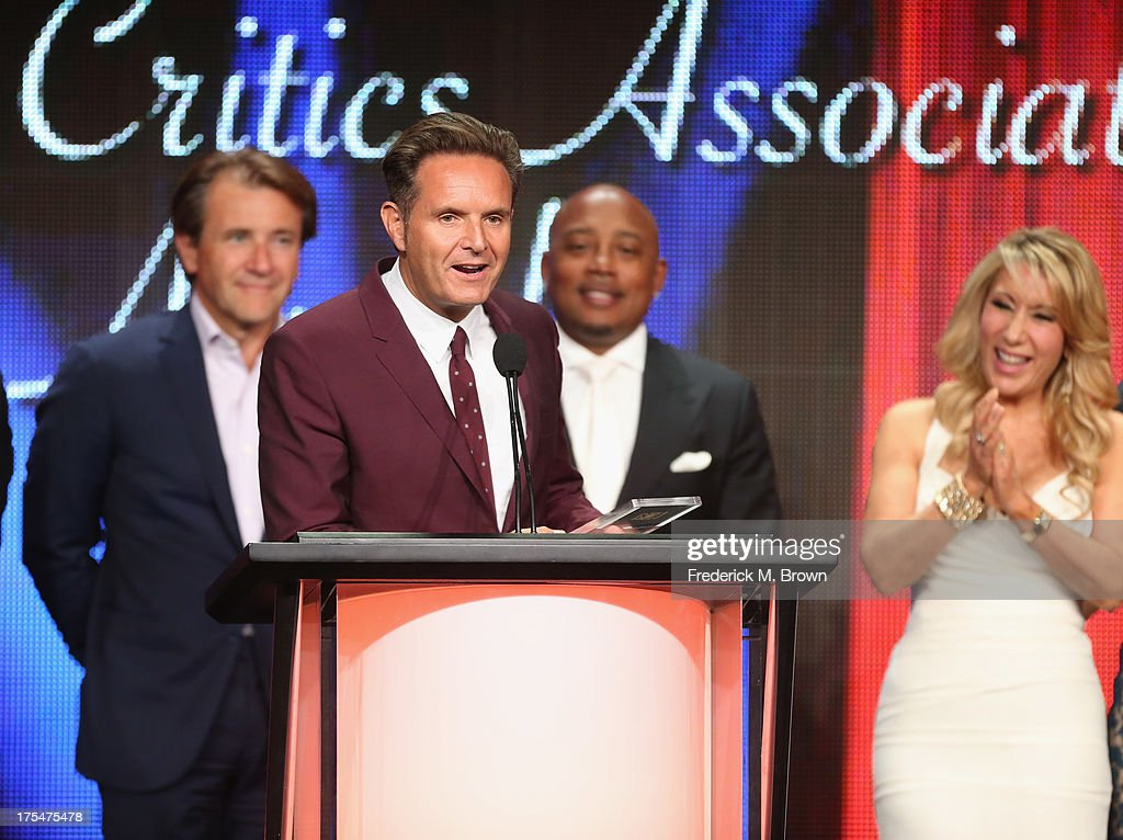 Producer <a gi-track='captionPersonalityLinkClicked' href=/galleries/search?phrase=Mark+Burnett&family=editorial&specificpeople=204697 ng-click='$event.stopPropagation()'>Mark Burnett</a> attends the 29th Annual Television Critics Association Awards at the Beverly Hilton Hotel on August 3, 2013 in Beverly Hills, California.