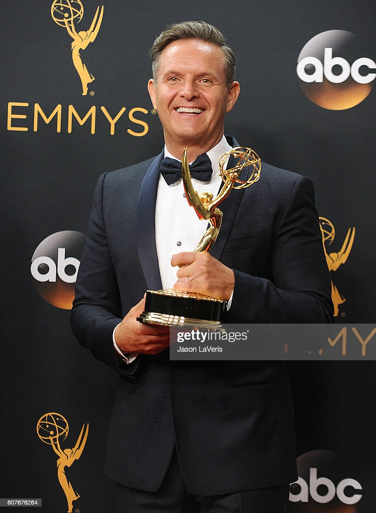 Producer Mark Burnett poses in the press room at the 68th annual Primetime Emmy Awards at Microsoft Theater on September 18, 2016 in Los Angeles, California.