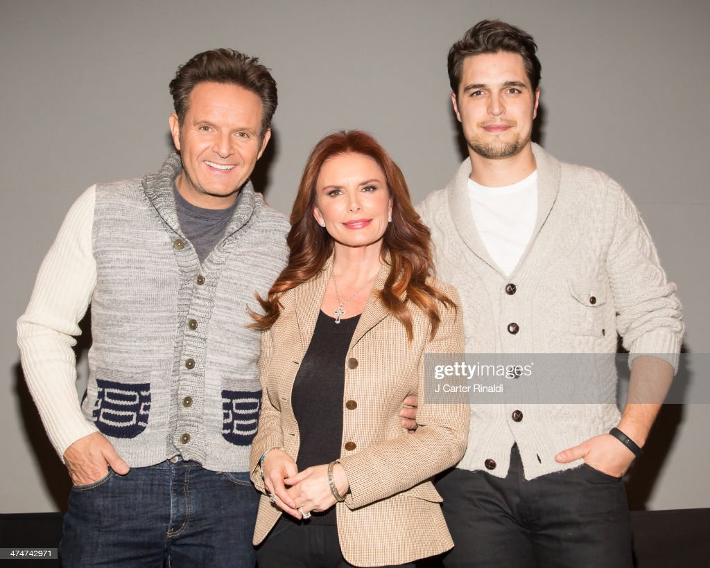 Producer Mark Burnett producer/actress Roma Downey and actor Diogo Morgado attend 'Meet The Filmmakers' at Apple Store Soho on February 24 2014 in...