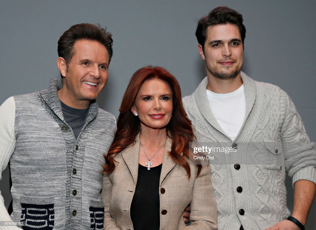 Producer Mark Burnett producer/actress Roma Downey and actor Diogo Morgado attend Meet the Filmmakers 'Son Of God' at Apple Store Soho on February 24...