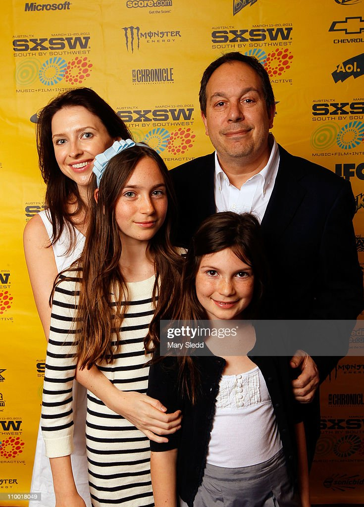 Producer Mark Gordon (R) and his family Sally Whitehill, Emma Gordon and Kate Gordon attend the 2011 SXSW Music, Film + Interactive Festival 'Source Code' Premiere at Paramount Theater on March 11, 2011 in Austin, Texas.