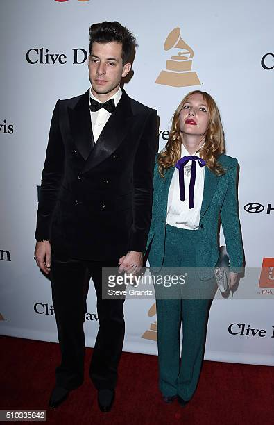 Producer Mark Ronson and actress Joséphine de La Baume attends the 2016 PreGRAMMY Gala and Salute to Industry Icons honoring Irving Azoff at The...