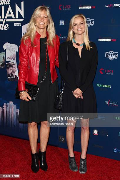 Producer Martha De Laurentiis and actress Dina De Laurentiis attend the 11th Cinema Italian Style opening night screening of 'Don't Be Bad' held at...