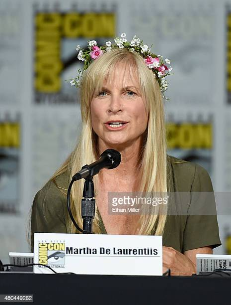 Producer Martha De Laurentiis speaks onstage at the 'Hannibal' Savor the Hunt panel during ComicCon International 2015 at the San Diego Convention...