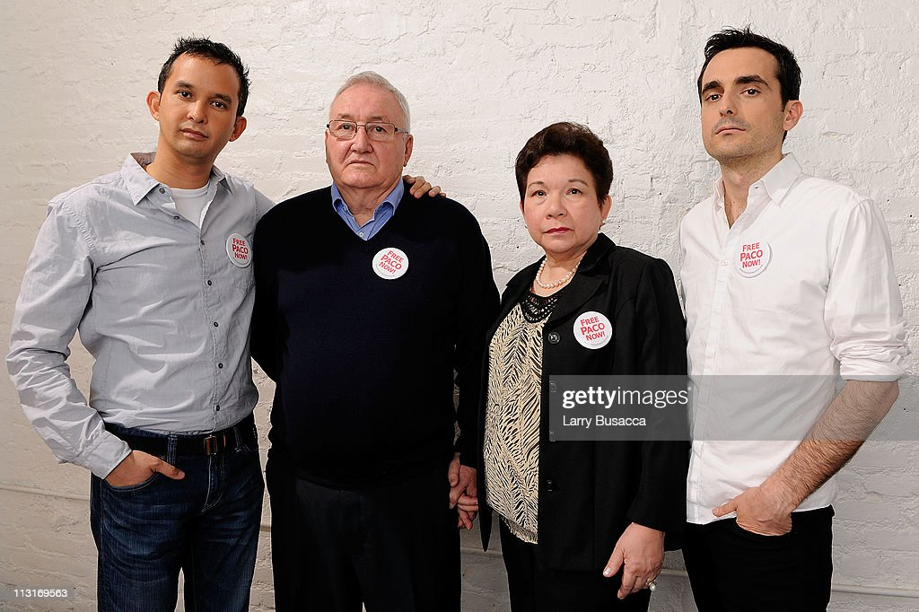 Producer Marty Syjuco, Manuel Larranaga, Margot Larranaga and Director Mike Collins visit the Tribeca Film Festival 2011 portrait studio on April 25, 2011 in New York City.