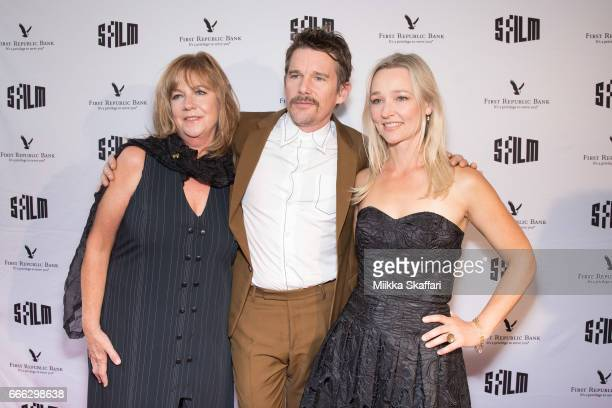 Producer Mary Young Leckie actor Ethan Hawke and actress Kari Matchett arrive at the 60th San Francisco International Film Festival tribute to Ethan...