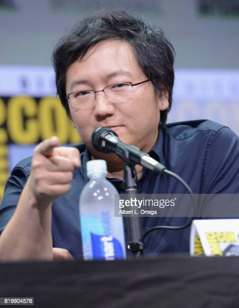 Producer Masi Oka speaks onstage at Netflix Films 'Bright' and 'Death Note' panel during ComicCon International 2017 at San Diego Convention Center...