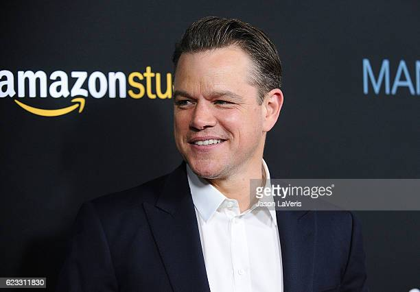 Producer Matt Damon attends the premiere of 'Manchester by the Sea' at Samuel Goldwyn Theater on November 14 2016 in Beverly Hills California