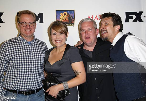 Producer Matt Thompson actress Amber Nash writer/producer Adam Reed and actor Lucky Yates attend the Maxim FX and Home Entertainment ComicCon Party...