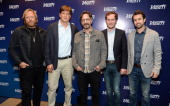 Producer Matthew Carnahan writer Bill Lawrence comedian Marc Maron showrunner Matt Warburton and actor Rob McElhenney attend Variety's A Night in the...