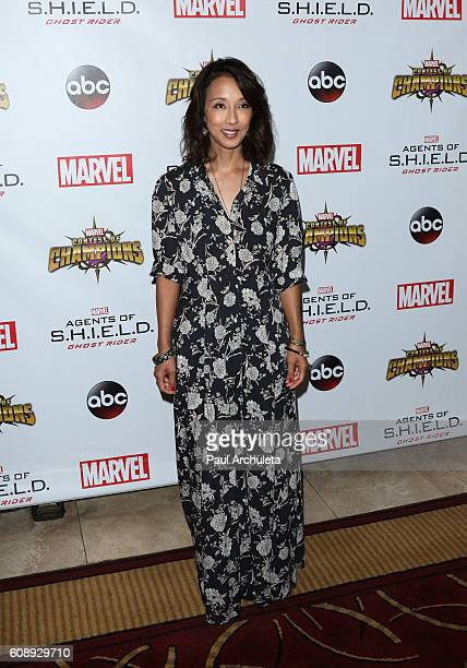 Producer Maurissa Tancharoen attends the premiere of ABC's 'Agents Of SHIELD' Season 4 at Pacific Theatre at The Grove on September 19 2016 in Los...