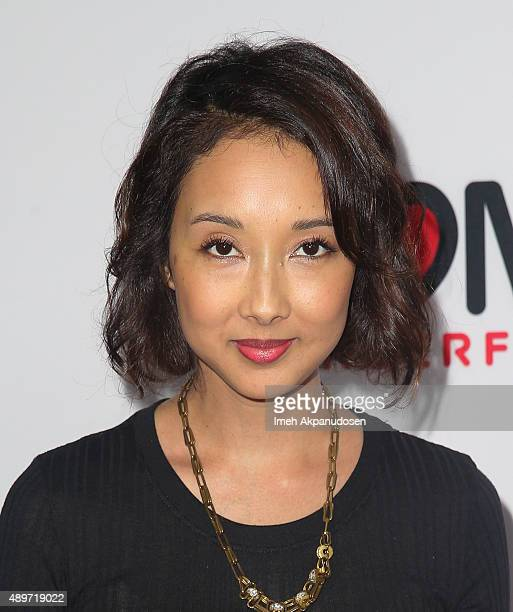Producer Maurissa Tancharoen attends the premiere of Marvel's 'Agents of SHIELD' at Pacific Theatre at The Grove on September 23 2015 in Los Angeles...