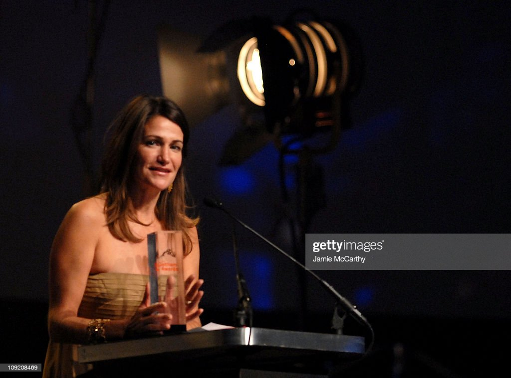 Producer Meghan O'Hara, winner of Best Documentary, onstage during the 17th Annual Gotham Awards presented by IFP at Steiner Studios on November 27, 2007 in Brooklyn, NY.