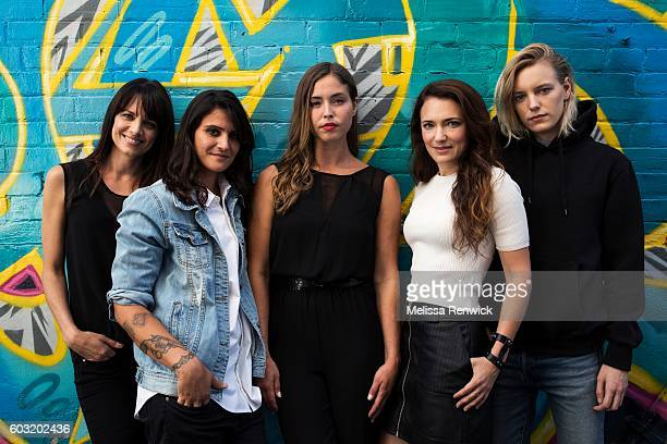 Producer Melissa Coghlan writer Stephanie Fabrizi actor Natalie Krill director April Mullen and actor Erika Linder are some of the women behind the...