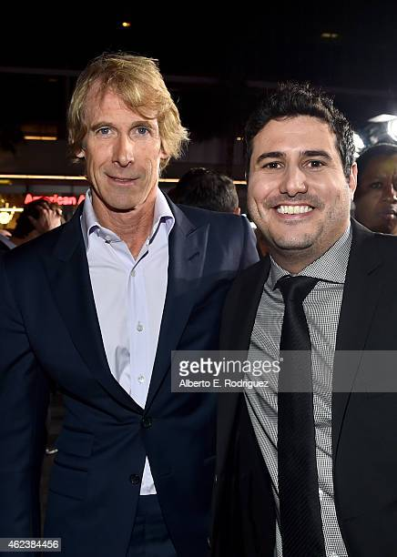 Producer Michael Bay and director Dean Israelite attend the premiere of Paramount Pictures' 'Project Almanac' at TCL Chinese Theatre on January 27...