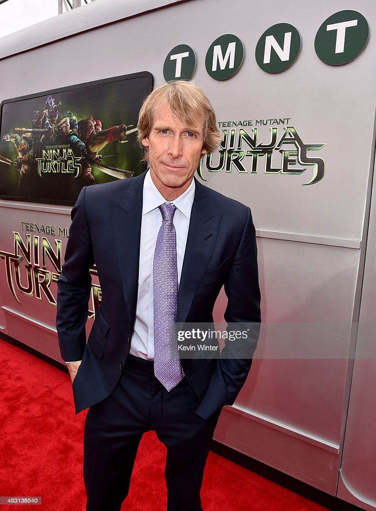 Producer <a gi-track='captionPersonalityLinkClicked' href=/galleries/search?phrase=Michael+Bay&family=editorial&specificpeople=240532 ng-click='$event.stopPropagation()'>Michael Bay</a> attends the premiere of Paramount Pictures' 'Teenage Mutant Ninja Turtles' at Regency Village Theater on August 3, 2014 in Westwood, California.
