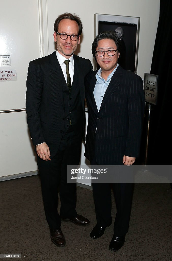 Producer Michael Costigan and director <a gi-track='captionPersonalityLinkClicked' href=/galleries/search?phrase=Park+Chan-wook&family=editorial&specificpeople=814445 ng-click='$event.stopPropagation()'>Park Chan-wook</a> attend the 'Stoker' New York Screening After Party at Frieda And Roy Furman Gallery on February 27, 2013 in New York City.