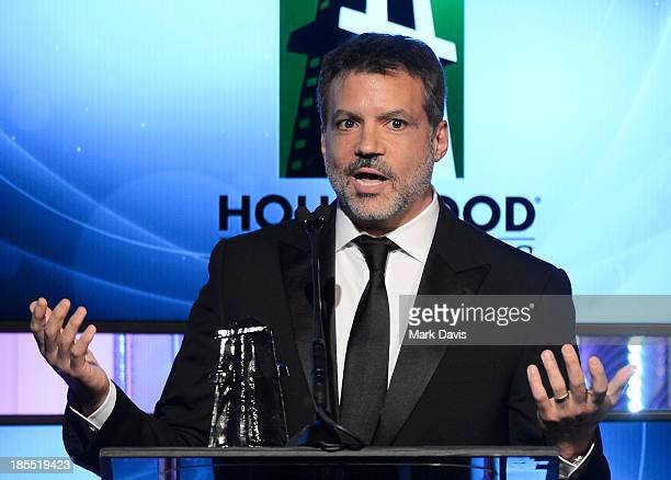 Producer Michael De Luca accepts the Hollywood Producer Award for 'Captain Phillips' onstage during the 17th annual Hollywood Film Awards at The...
