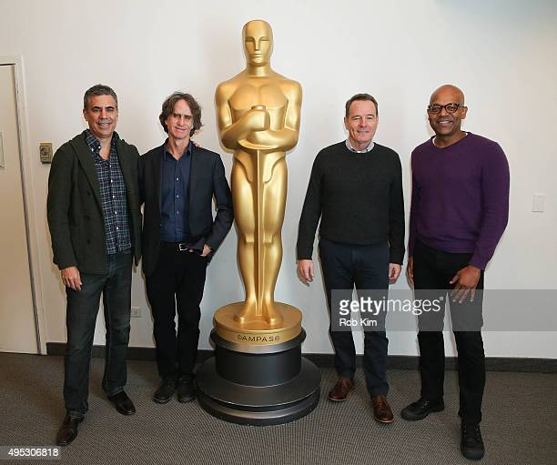 Producer Michael London director Jay Roach actor Bryan Cranston and Patrick Harrison Director of New York Programs Academy Of Motion Picture Arts...
