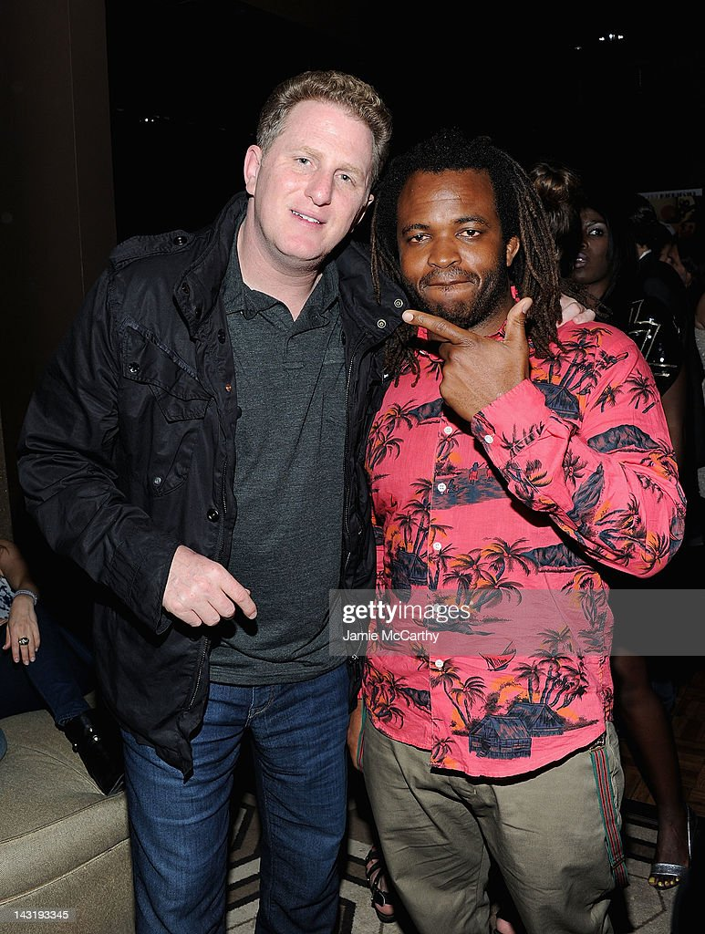Producer <a gi-track='captionPersonalityLinkClicked' href=/galleries/search?phrase=Michael+Rapaport&family=editorial&specificpeople=234353 ng-click='$event.stopPropagation()'>Michael Rapaport</a> and <a gi-track='captionPersonalityLinkClicked' href=/galleries/search?phrase=Sal+Masekela&family=editorial&specificpeople=572654 ng-click='$event.stopPropagation()'>Sal Masekela</a> attend After Party For Jason Bergh's New Film Alekesam at Tribeca Grand Hotel on April 20, 2012 in New York City.