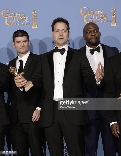 Producer Michael Schur producer Daniel J Goor and actor Terry Crews ...