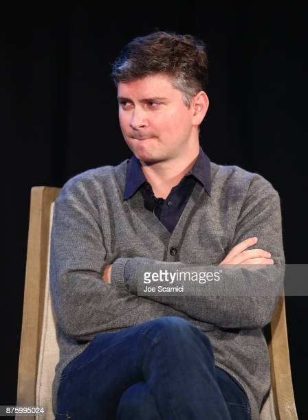 Producer Michael Schur speaks onstage during the 'Damon Lindelof and Mike Schur Discuss TV ' panel part of Vulture Festival LA Presented by ATT at...