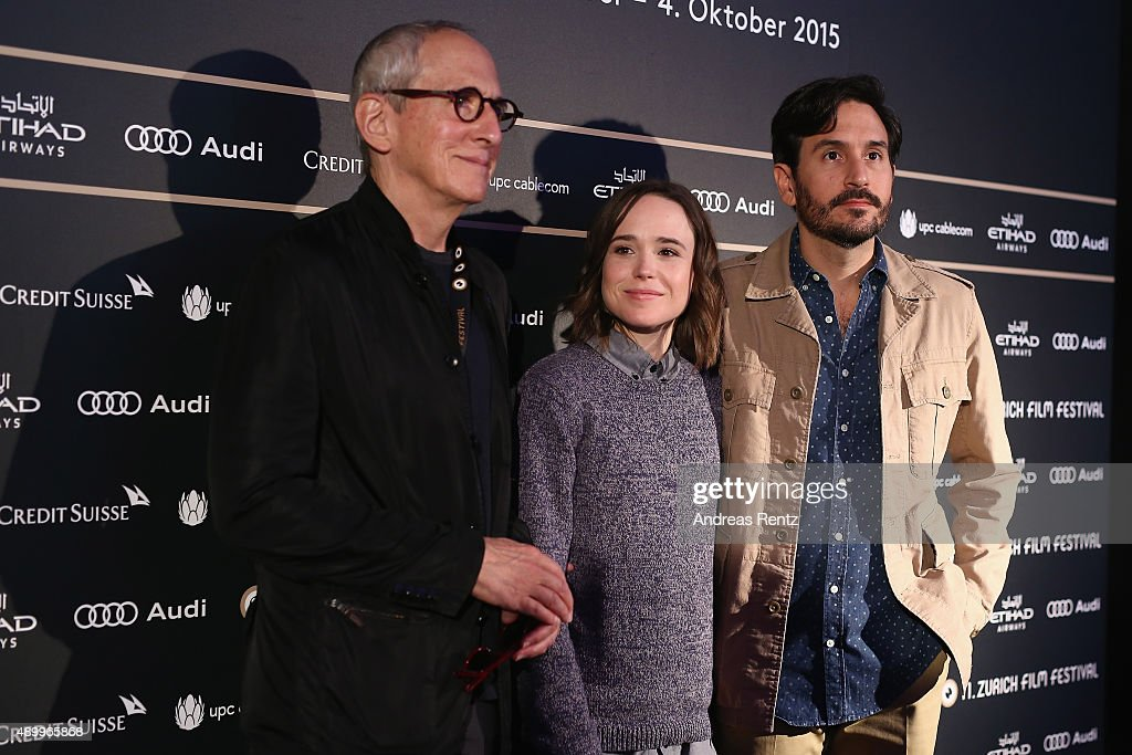 Producer Michael Shamberg, actress Ellen Page and director Peter Sollett attend the 'Freeheld' Press Conference during the Zurich Film Festival on September 25, 2015 in Zurich, Switzerland. The 11th Zurich Film Festival will take place from September 23 until October 4.
