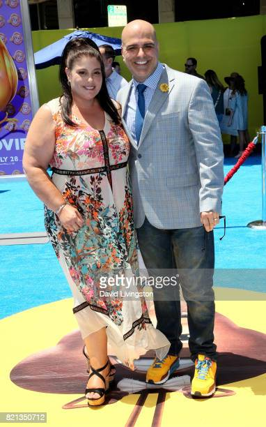 Producer Michelle Raimo Kouyate and director Tony Leondis attend the premiere of Columbia Pictures and Sony Pictures Animation's 'The Emoji Movie' at...