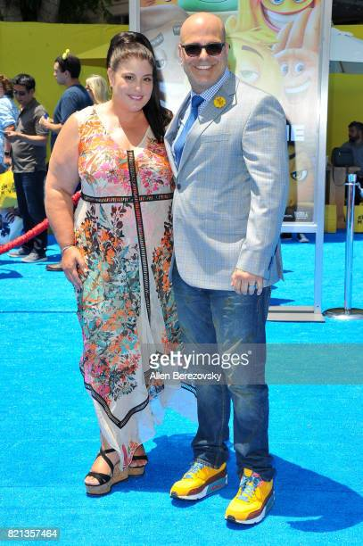 Producer Michelle Raimo Kouyate and director Tony Leondis attends the premiere of Columbia Pictures and Sony Pictures Animation's 'The Emoji Movie'...