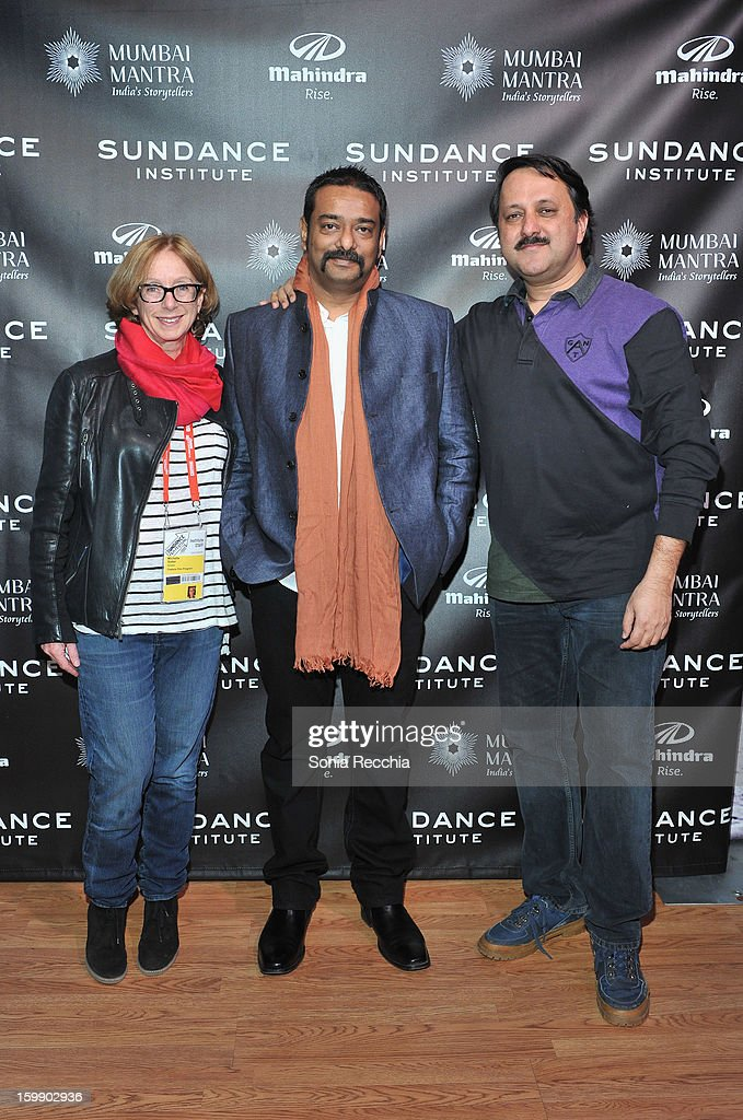 Producer Michelle Satter, director Sarthak Dasgupta and producer Rohit Khattar attend the Sundance Institute Mahindra Global Filmmaking Award Reception at Sundance House on January 22, 2013 in Park City, Utah.