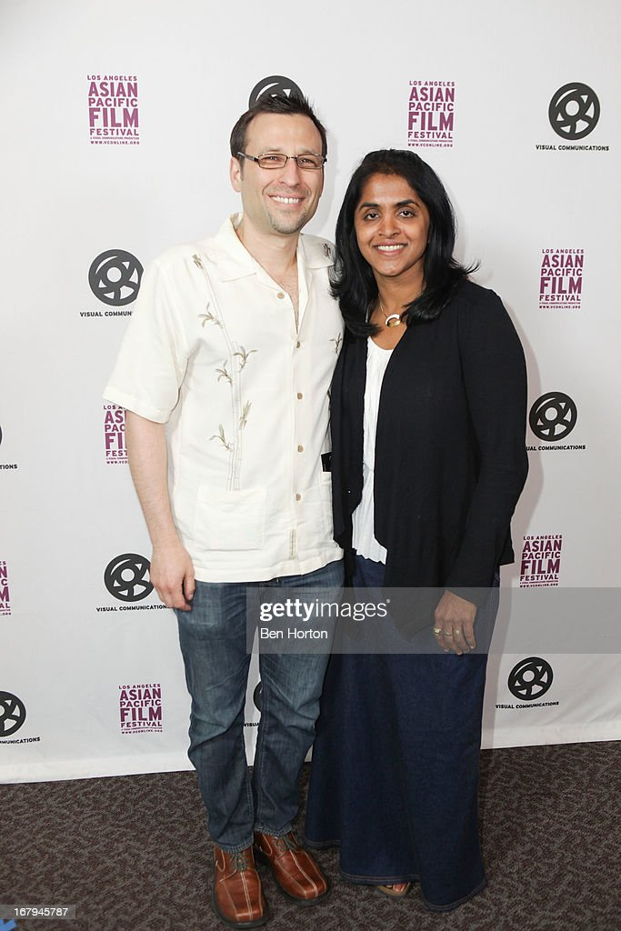Producer Mike Blum and Suju Vijayan attends the 2013 LA Asian Pacific Film Festival - opening night premiere of 'Linsanity' at the Directors Guild Of America on May 2, 2013 in Los Angeles, California.