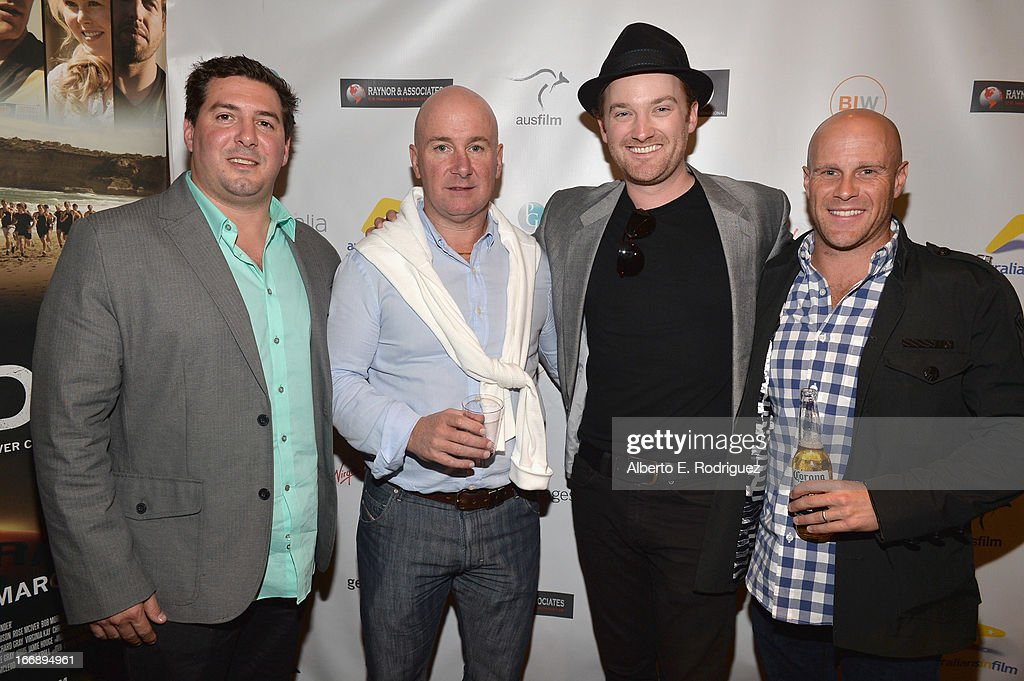 Producer Mike Gillespie, writer/producer Scott Didier, writer/director Richard Gray and producer Christopher Lemole attends Australians In Film's screening of Revival Film Company's 'Blinder' at Los Angeles Film School on April 17, 2013 in Los Angeles, California.