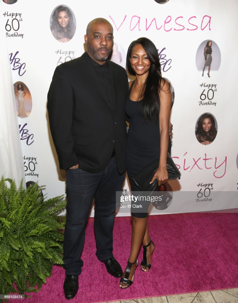 Producer Mike Jackson and actress Nichole Galicia attend Vanessa Bell Calloway's 60th Birthday Bash at Cicada on March 18, 2017 in Los Angeles, California.