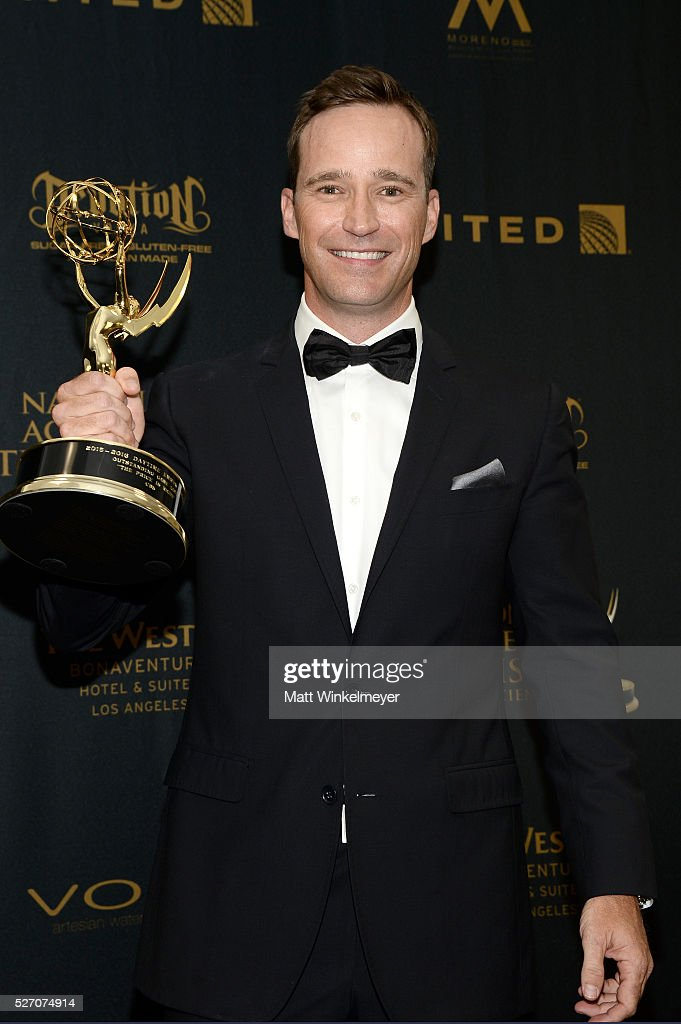 Producer Mike Richards, winner of the Emmy for Outstanding Game Show: The Price Is Right, poses in the press room at the 43rd Annual Daytime Emmy Awards at the Westin Bonaventure Hotel on May 1, 2016 in Los Angeles, California.