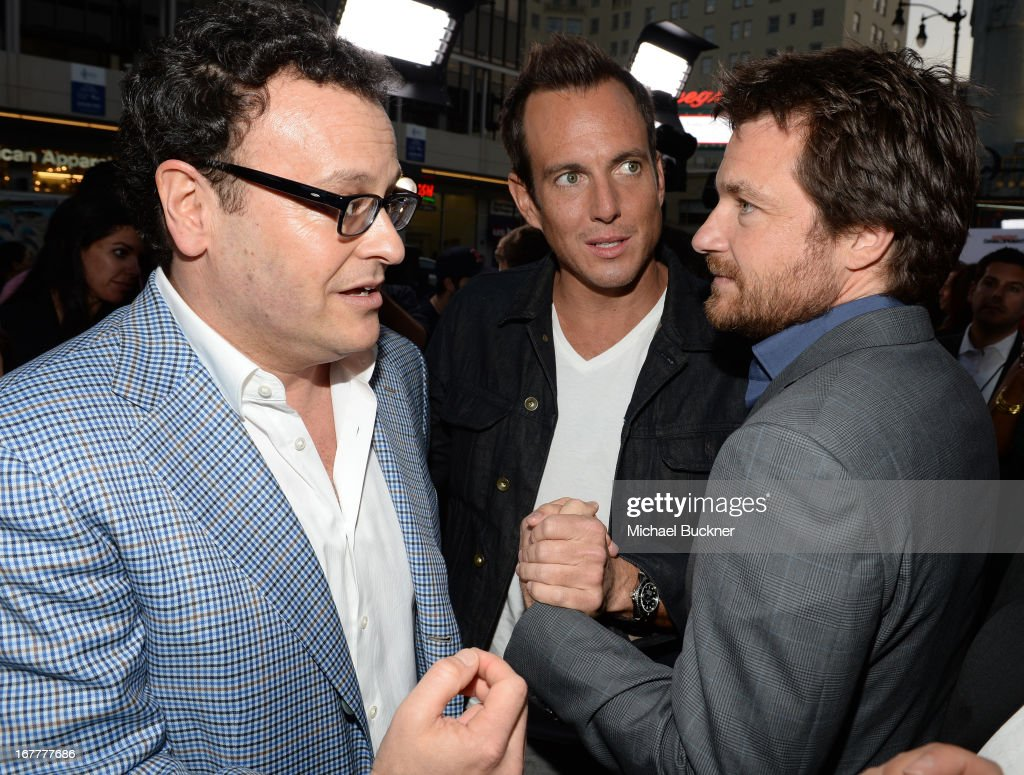 Producer Mitchell Hurwitz, actor Will Arnett and actor Jason Bateman arrive at the Los Angeles Premiere of Season 4 of Netflix's 'Arrested Development' at the TCL Chinese Theatre on April 29, 2013 in Hollywood, California.