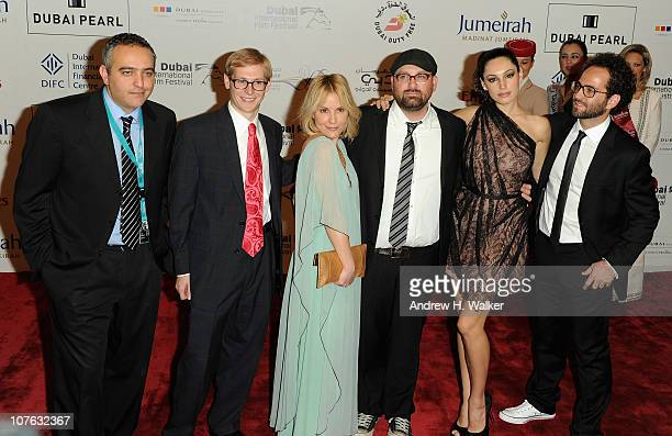 Producer Mohamed Hefzy Actress Emma Caulfield director Nick Simon and actress Kelly Brook attend the 'Cairo Exit' premiere during day five of the 7th...