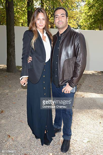 Producer Mohammed Al Turki and guest attend the Elie Saab show as part of the Paris Fashion Week Womenswear Spring/Summer 2017 on October 1 2016 in...