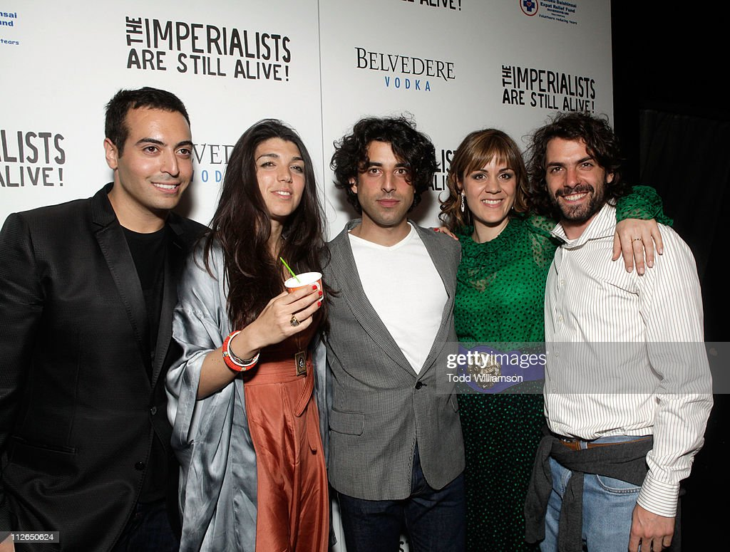 Producer Mohammed Al Turki, director Zeina Durra and actors Karim Saleh, Marianna Kulukundis and José María de Tavira attend 'The Imperialists Are Still Alive!' after party held at Trousdale on April 19, 2011 in West Hollywood, California.