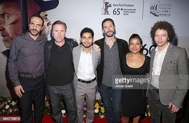 Producer Moises Zonana actor Tim Roth actor Kristyan Ferrer director Gabriel Ripstein actress Monica del Carmen and producer Michel Franco attend the...